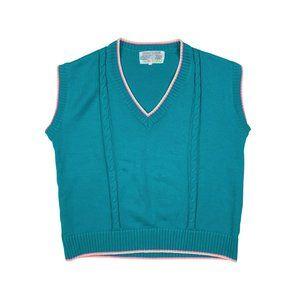 VINTAGE Knit V Neck Sweater Vest
